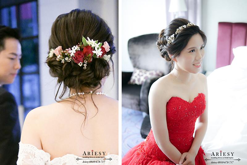 文定造型,新娘妝髮,新娘髮型,新娘造型,編髮,愛瑞思,新秘,新娘秘書