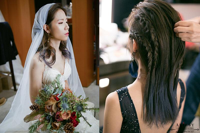 頭巾新娘造型,搖滾編髮新娘髮型,愛瑞思,ariesy,新娘秘書,波希米亞新娘造型,新娘捧花