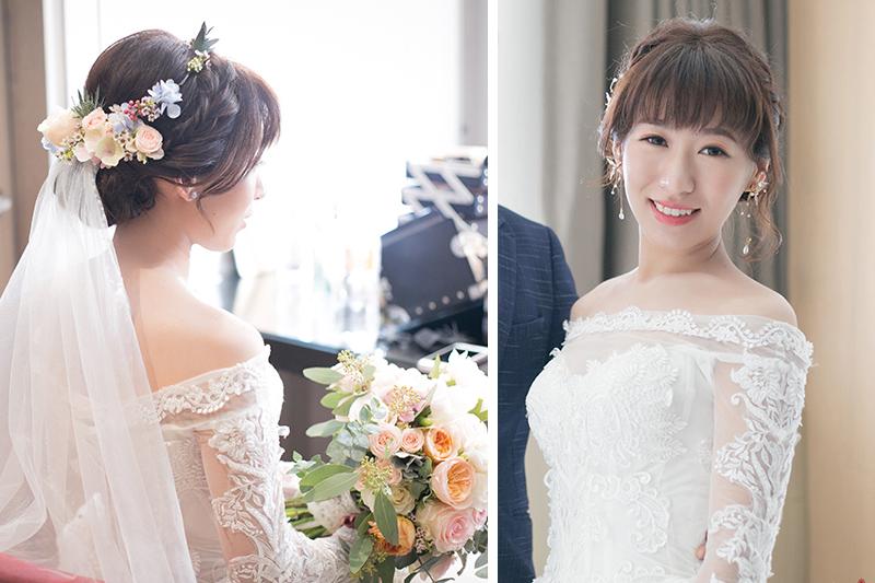 單眼皮新娘,ARIESY,新娘秘書,鮮花新秘,歐美編髮鮮花造型,新娘造型,編髮髮型
