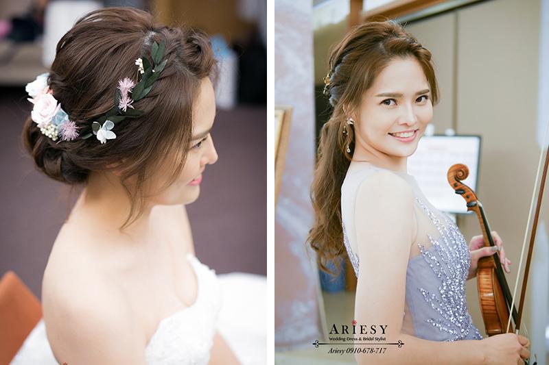 新娘秘書,婚禮表演,白紗造型,仙仙風新娘,鮮花新秘,台中日月千禧