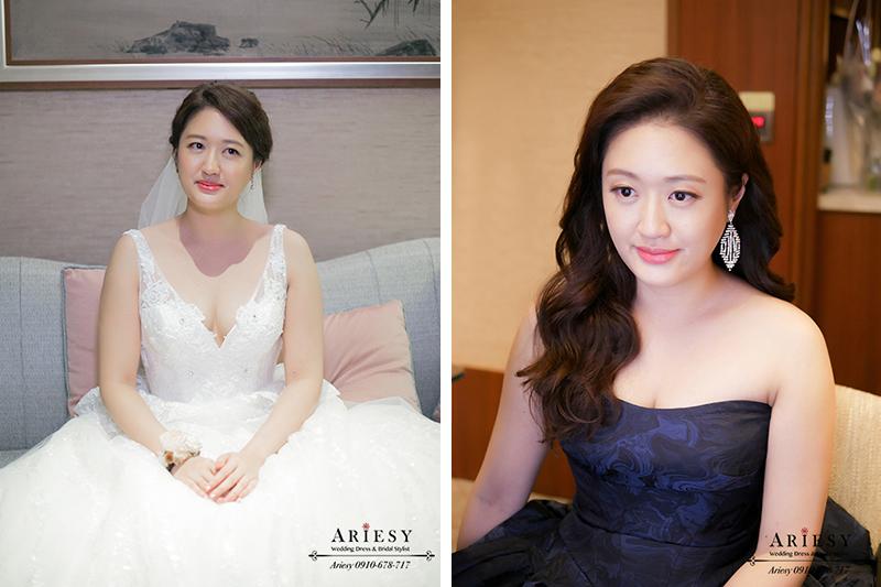 新娘秘書,歐美新秘,愛瑞思,ARIESY,台北新秘,氣質新娘造型,名媛造型