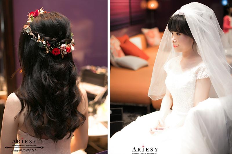 日系新娘秘書,頭紗新娘造型,新娘秘書,新秘,台北新秘,鮮花新秘