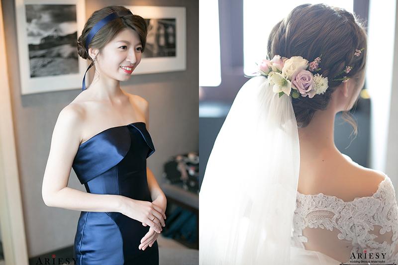 ARIESY,愛瑞思,台北新娘秘書,鮮花新秘,歐美風新秘,奧黛麗赫本風新娘造型,世貿三三婚禮