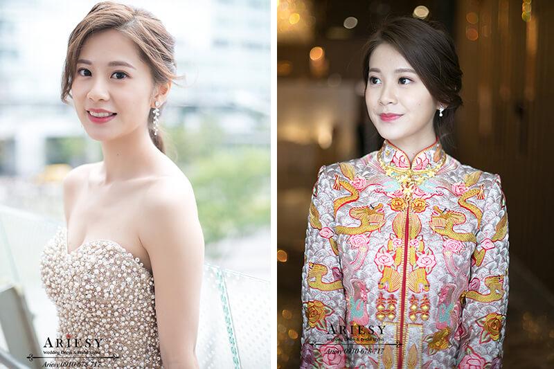 龍鳳褂造型,愛瑞思婚紗,歐美風新秘,新娘秘書,ariesy,台北新娘化妝師
