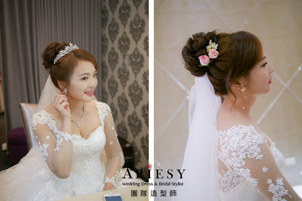 新娘白紗造型,新娘皇冠造型,台北新秘推薦,清新妝感,頭紗造型