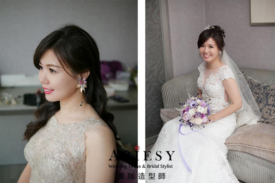 白紗進場造型,新秘花藝,台北新秘推薦,花耳環,自然新娘妝