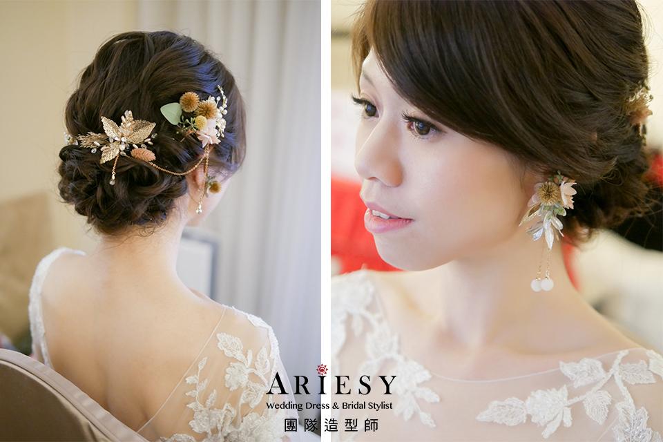 白紗進場造型,新秘花藝,台北新娘秘書推薦,新娘鮮花造型,果實飾品