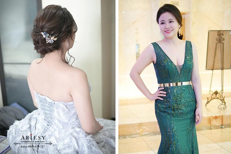 歐美風新娘造型,新娘秘書,台中新秘,歐美盤髮,歐美新秘,愛瑞思品牌婚紗
