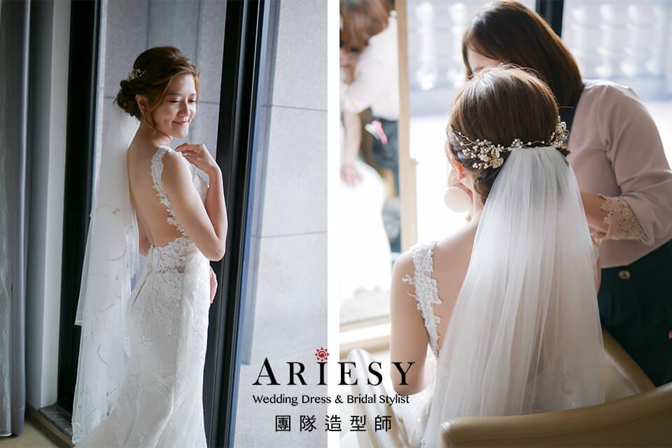 迎娶造型,單眼皮新娘,新秘推薦,新娘編髮造型,新娘自然妝感