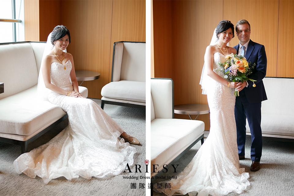愛瑞思手工婚紗,新娘自然妝,新娘髮型,歐美新秘推薦,新秘編髮