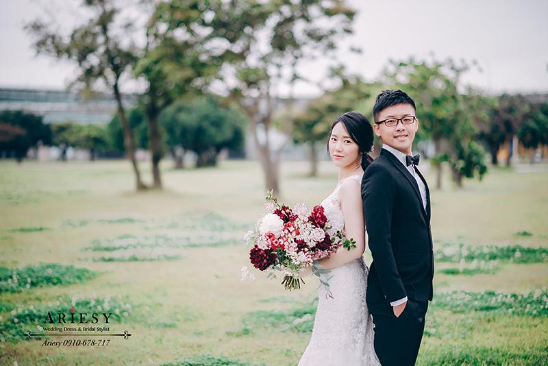 新莊婚紗攝影,河濱公園婚紗照,韓風白紗外拍新娘造型,ARIESY婚紗禮服,婚攝大嘴婚紗攝影包套,韓風黑髮新娘髮型
