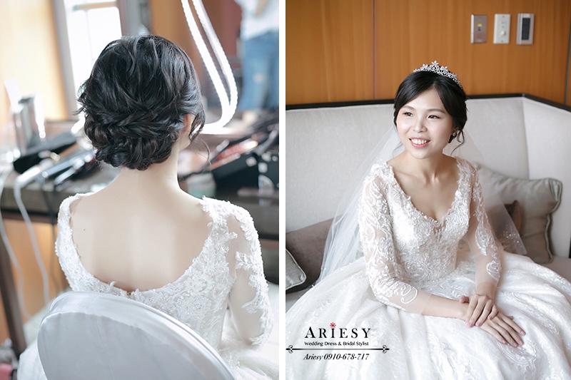 新娘秘書,編髮新秘,台北新秘推薦,mega50婚宴會館,愛瑞思,Ariesy,黑髮新娘