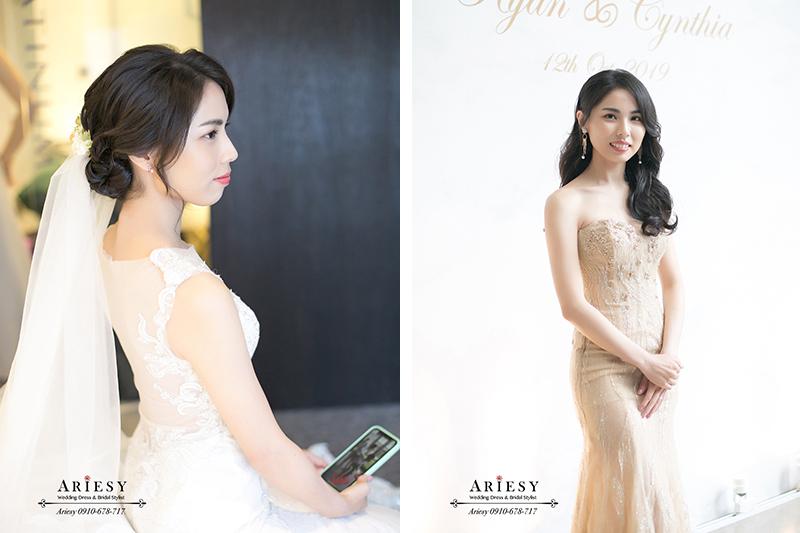 黑髮新娘髮型,台北新秘,新娘秘書,ARIESY,愛瑞思,白金花園婚禮戶外儀式鮮花造型