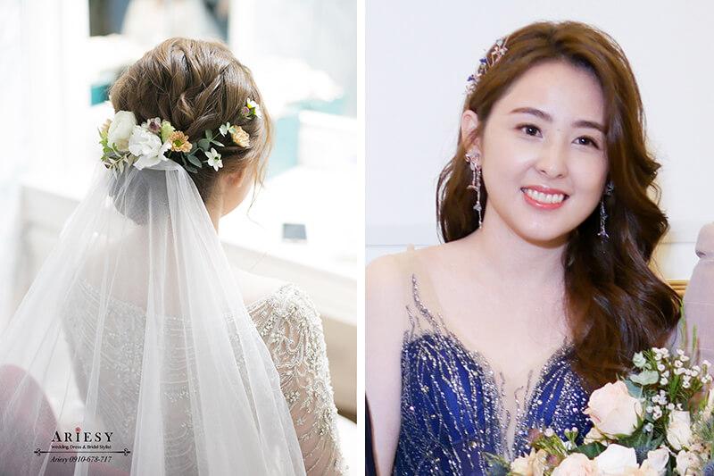美式鮮花新秘,白紗新娘造型,教堂證婚,時尚新娘秘書,台北新秘,ARIESY,愛瑞思