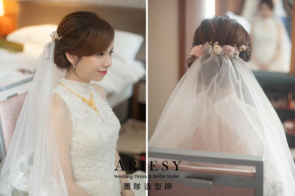 新娘白紗造型,編髮造型,台北新秘,新娘妝,新娘髮型