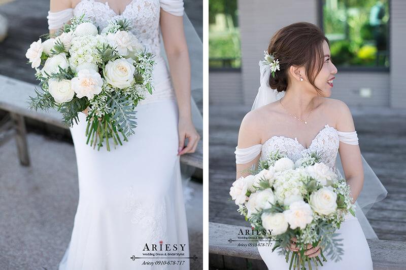 新娘秘書,美式捧花,鮮花新娘造型,愛瑞思,ariesy,美式新秘