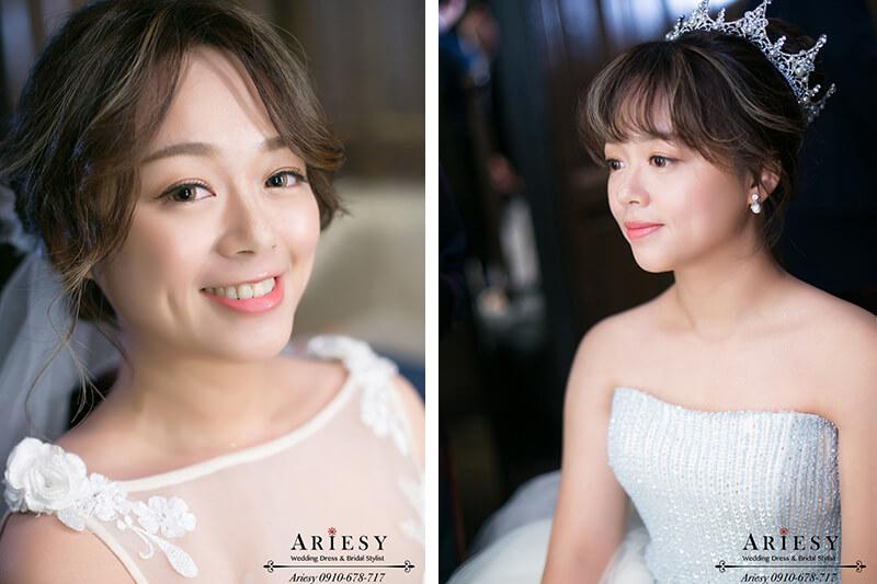 君品,精緻新娘妝感,華麗公主新娘造型,愛瑞思,ARIESY,新秘,新娘秘書,新秘推薦