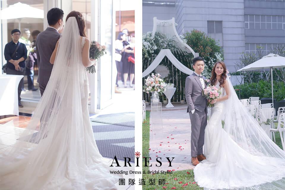 新娘白紗造型,證婚造型,台北新秘推薦,名媛新娘,新娘花藝造型