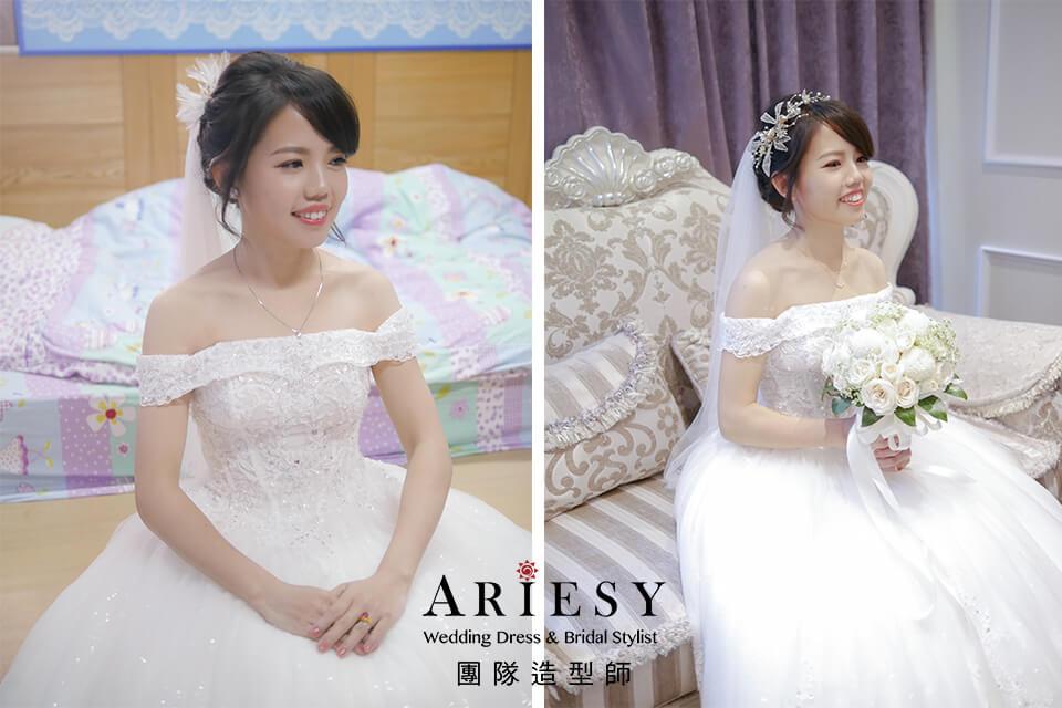 新娘秘書,新娘白紗造型,新娘妝,甜美新娘,黑髮新娘