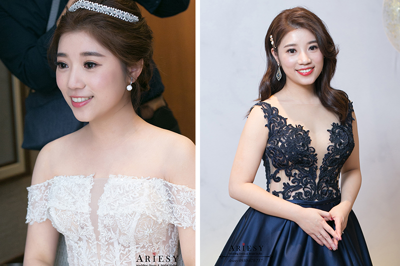 愛瑞思,ariesy,新娘秘書,新秘,時尚新娘造型,白紗造型,水晶皇冠造型