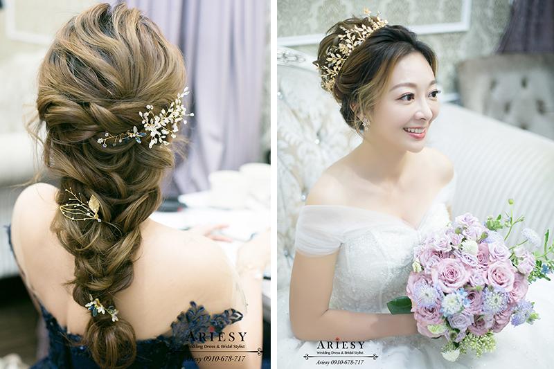 新秘,新娘秘書,白紗皇冠造型,新娘捧花,歐美編髮新娘造型