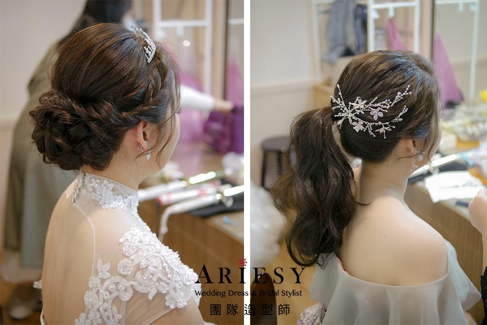 新娘秘書,新娘自然妝感,新娘編髮,新娘髮型,歐美風格
