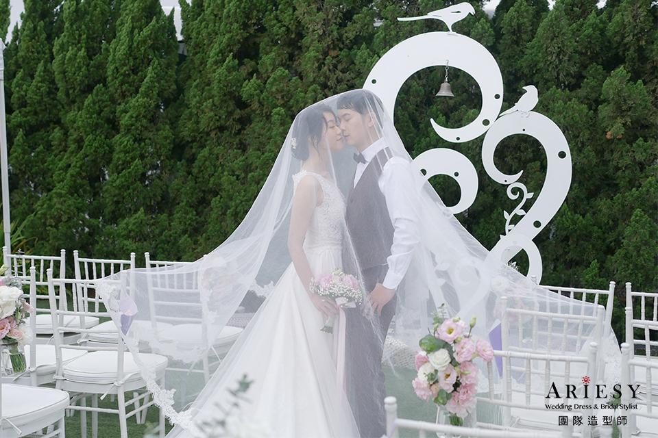 台北新秘推薦,新娘短髮造型,黑髮新娘,新娘妝,證婚造型