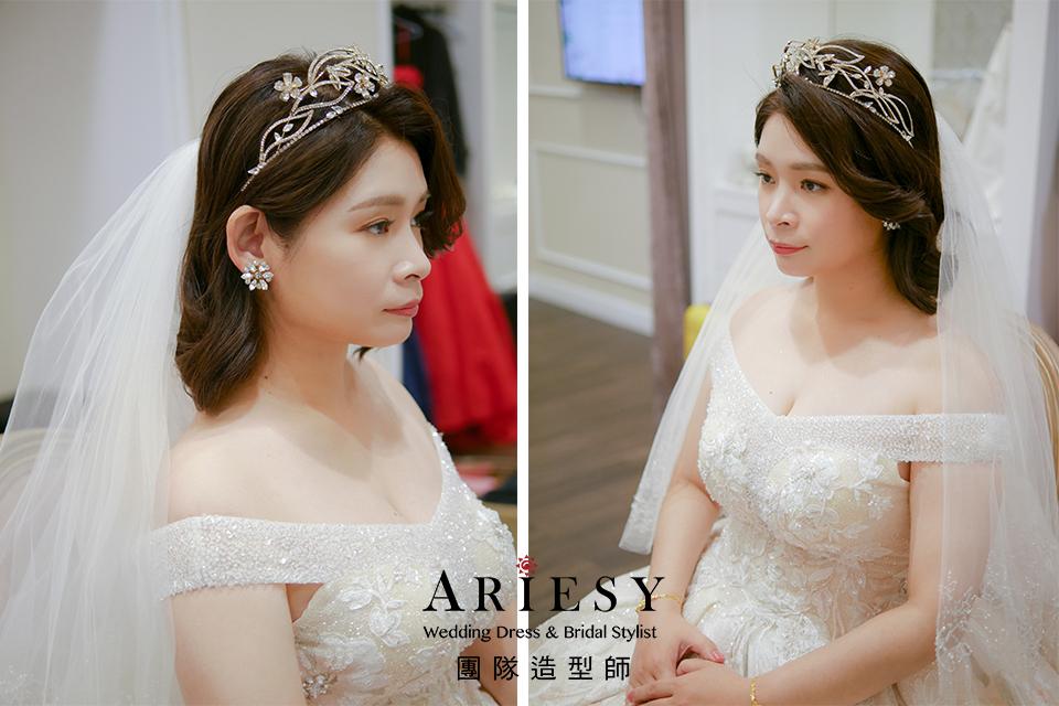 新秘,新娘短髮髮型,短髮新娘,自然妝感,新娘造型