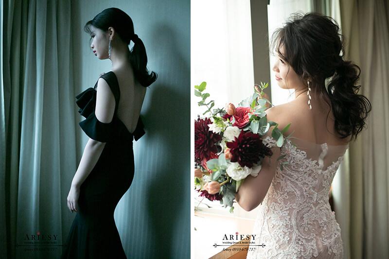 時尚新娘造型,日系蓬鬆馬尾新娘造型,新娘秘書,台北新秘,愛瑞思,ariesy