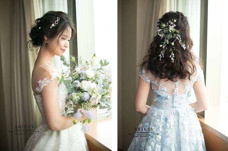日系新娘髮型,日系新娘造型,ARIESY,愛瑞思,台北新秘推薦,鮮花新娘秘書