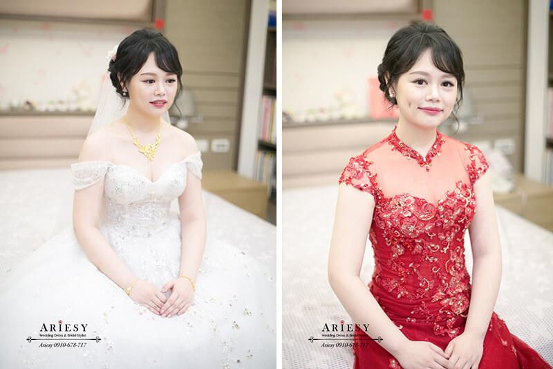 新娘秘書,新秘推薦,白紗迎娶造型,黑髮新娘造型,台北新秘愛瑞,文定新娘造型