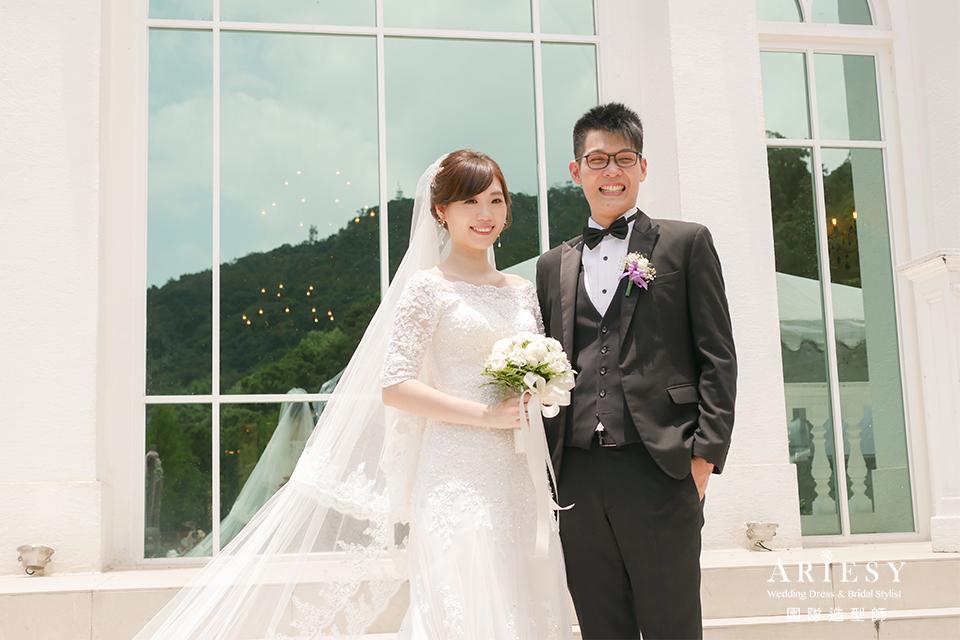 台北新秘推薦,新娘自然清透妝,蓬鬆編髮,新秘,戶外婚禮