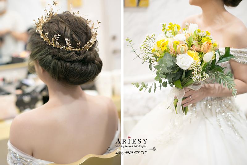 愛瑞思ARIESY,宮廷皇冠新娘造型,新娘捧花,新秘,新娘秘書,台北新秘推薦