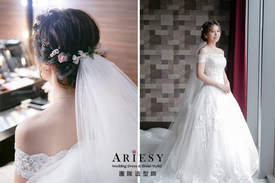新娘花髮型,新秘花藝,新娘秘書,甜美新娘風格,新娘編髮