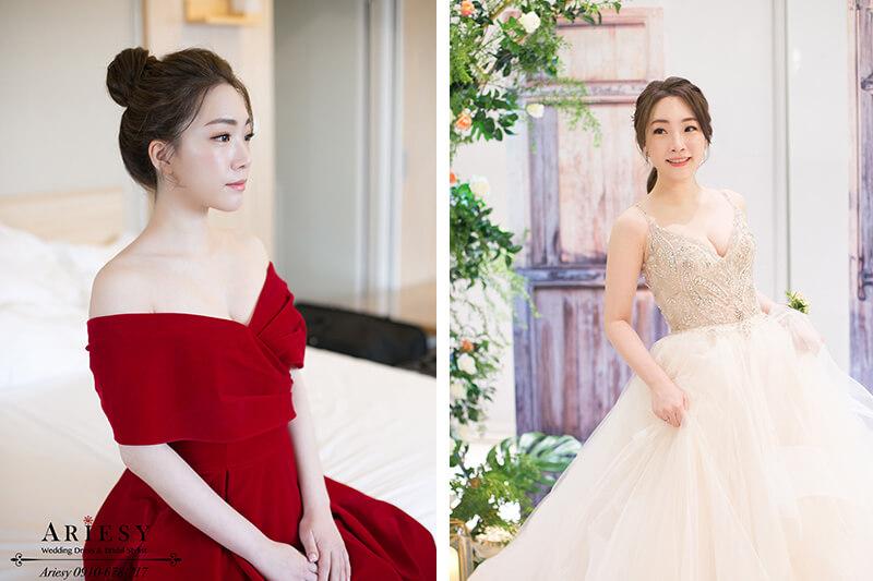 韓風新娘清透妝感,鮮花新娘造型,愛瑞思,ariesy,新娘文定造型,新秘推薦
