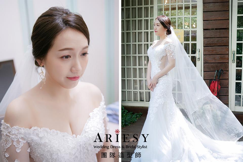 台北新秘推薦,韓風造型,簡單乾淨造型,新娘髮型,編髮造型