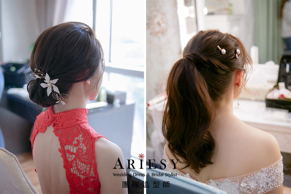 新秘推薦,新娘妝感,簡單乾淨造型,黑髮造型,編髮造型