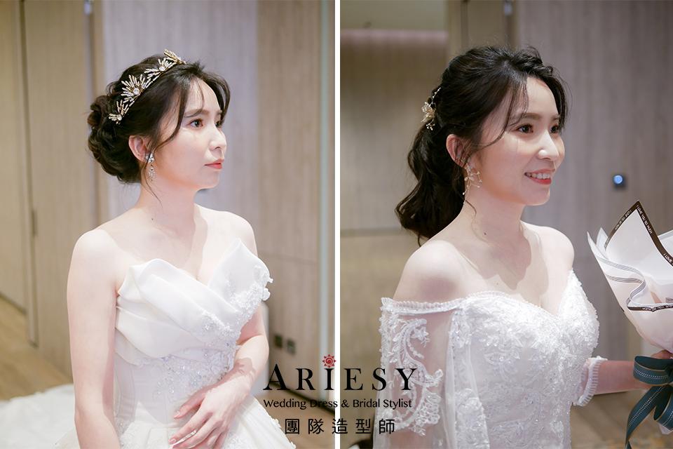 新娘黑髮,新娘自然妝,新娘秘書,黑髮編髮,新娘進場造型
