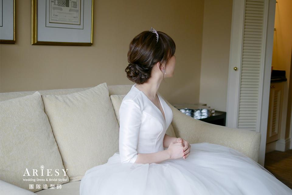 新娘造型,編髮髮型,台北新秘,旗袍髮型,自然妝感