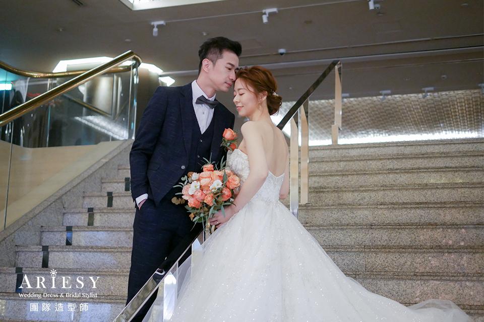 新娘秘書,日系髮型,新娘造型,新娘編髮造型,清透妝感