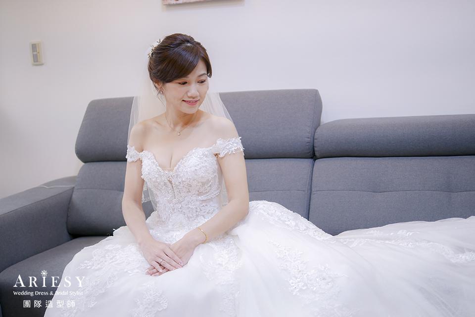 新娘秘書,清新新娘,新娘編髮造型,清透妝感,新秘