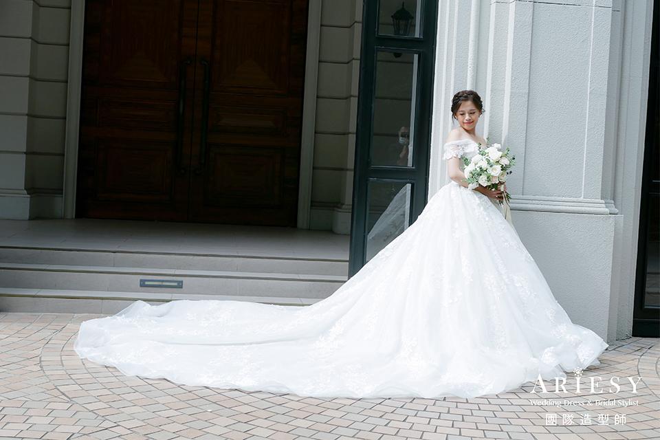 新娘花藝造型,新娘自然妝,台北新秘推薦,新娘髮型,新娘鮮花造型