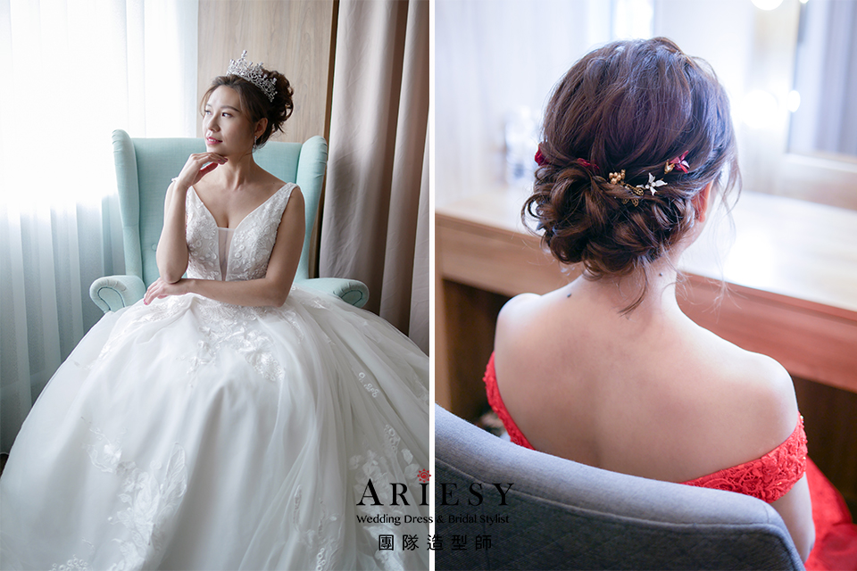 新娘秘書,新娘造型,新娘白紗髮型,新秘花藝,編髮髮型