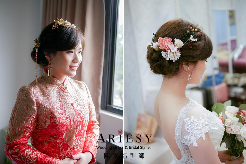 新娘造型,新娘自然妝,新秘推薦,秀禾服造型,新娘鮮花造型