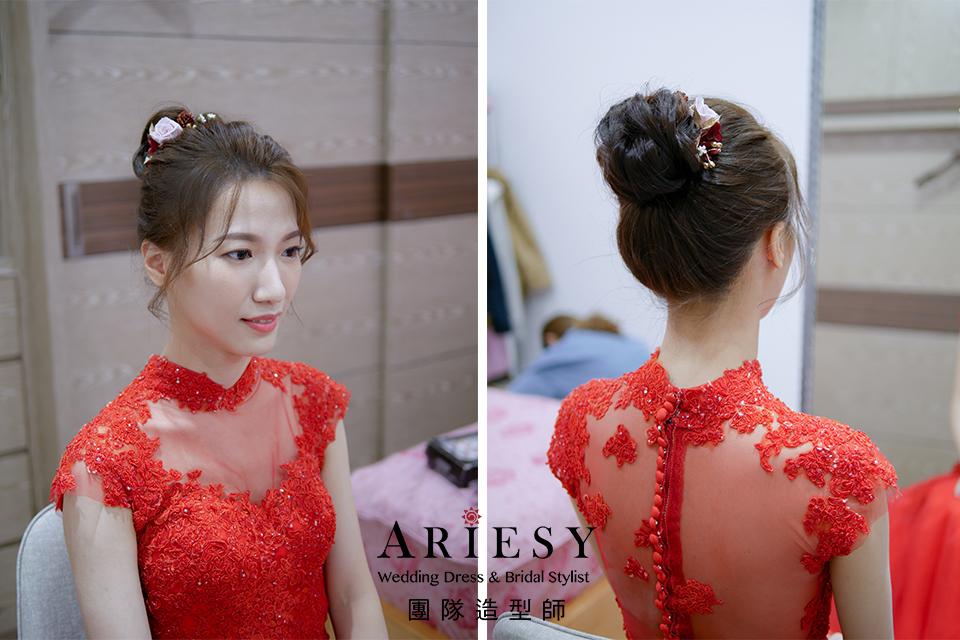 新娘花藝造型,新娘自然妝,新秘推薦,文定造型,新娘編髮
