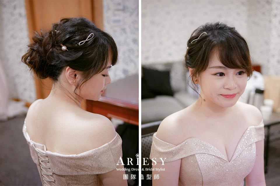新娘花藝,新娘自然清透妝,台北新秘,編髮造型,新娘髮型