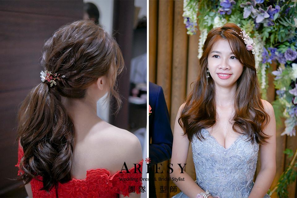 新娘花藝造型,新娘妝,台北新秘推薦,放髮造型,新秘花藝