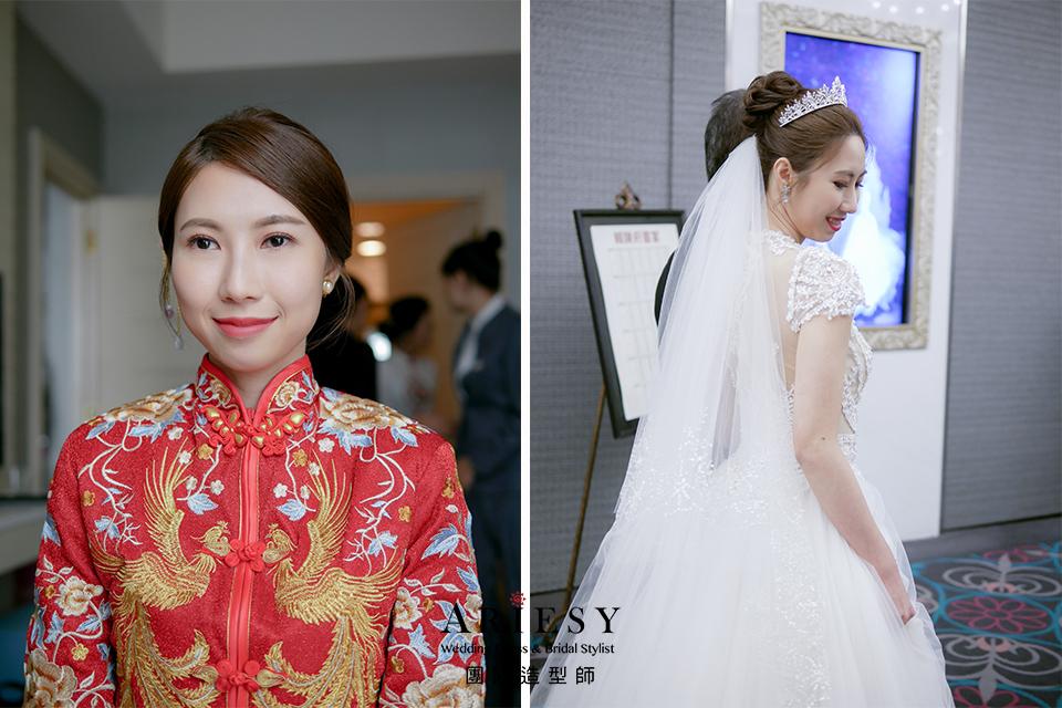 新娘造型,韓風新娘,新秘,秀禾服髮型,俐落造型