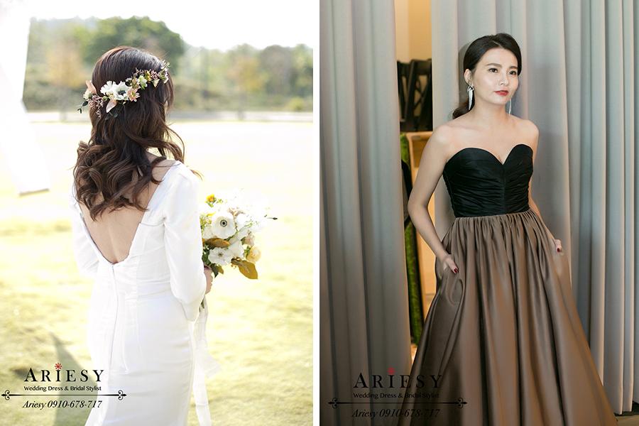 美式鮮花新娘髮型,新娘油頭造型,愛瑞思,ARIESY,美式婚禮,時尚新娘髮型,新娘油頭造型