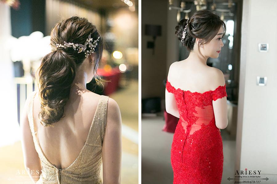 編髮新秘,新娘秘書,台北新秘推薦,文定新娘造型,愛瑞思,ARIESY婚紗禮服